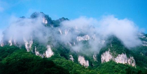 于是赶紧百度一下:光雾山风景区位于