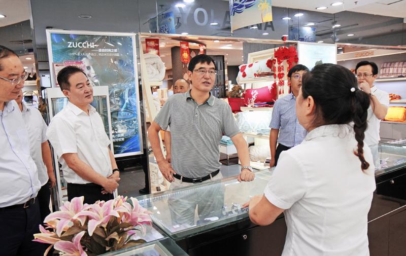 郭亨孝到达州商业集团调研