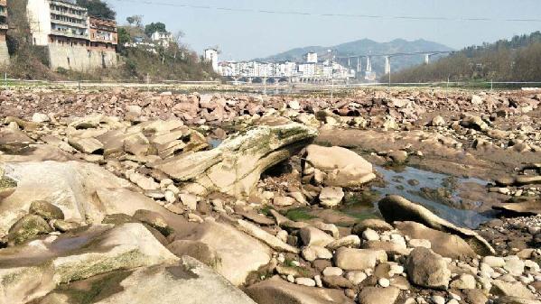 达城的母亲河——州河干涸时的别样世界