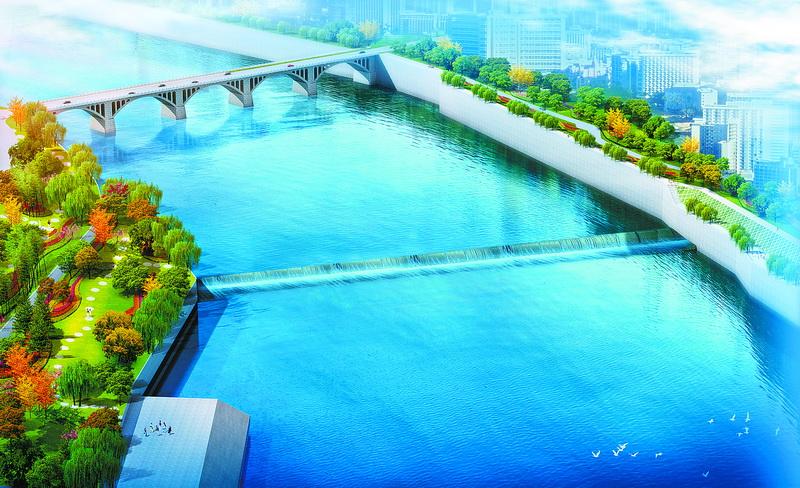 塔沱液压升降坝下周蓄水 碧波荡漾将呈现州河达城段