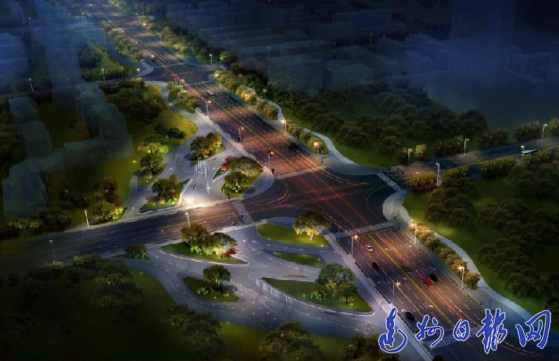 """景观设计新鲜出炉 马踏洞新区南北干道将成""""城市景观轴"""""""