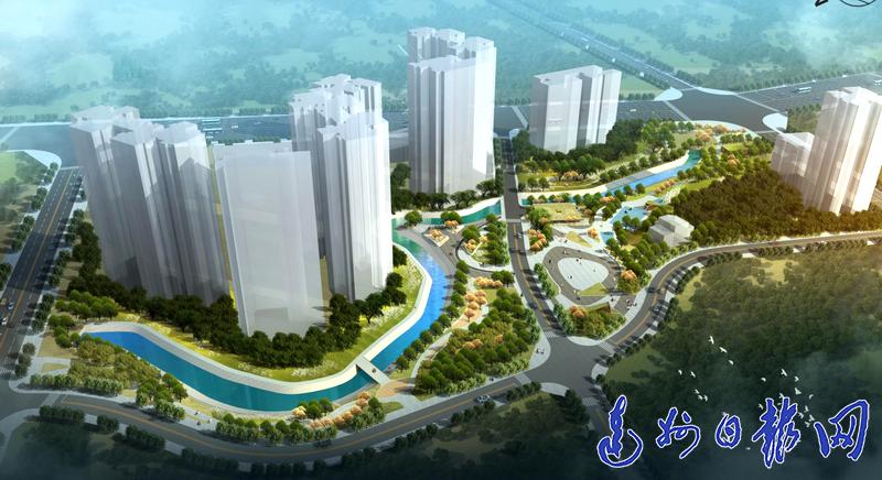 滨河绿地!万家河新锦片区将成为服务周边市民的社区公园